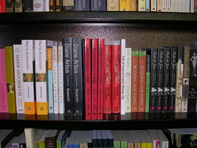 B&N book on shelf